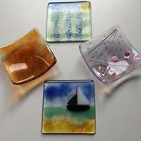 A selection of starter projects in fused glass
