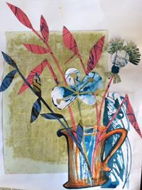 Decorative papers produced in Collage workshops