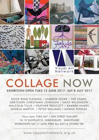 Curated exhibition of 11 artists working in contemporary collage